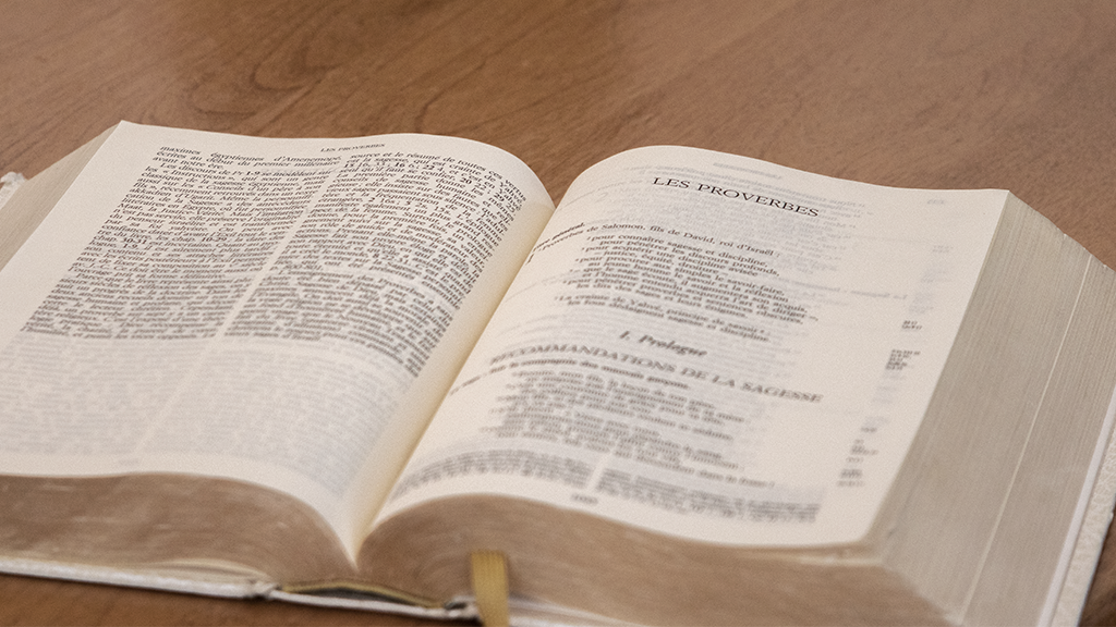 explications du livre des Proverbes